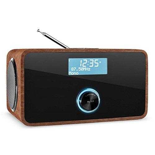 Auna DABStep Digitalradio DAB / DAB+ / UKW-Tuner braun