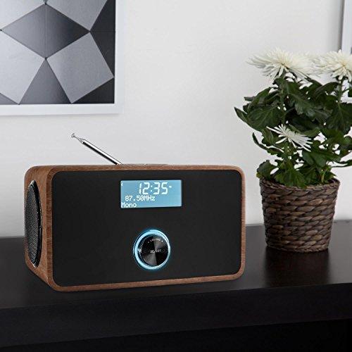 Auna DABStep Digitalradio DAB / DAB+ / UKW-Tuner braun - 9