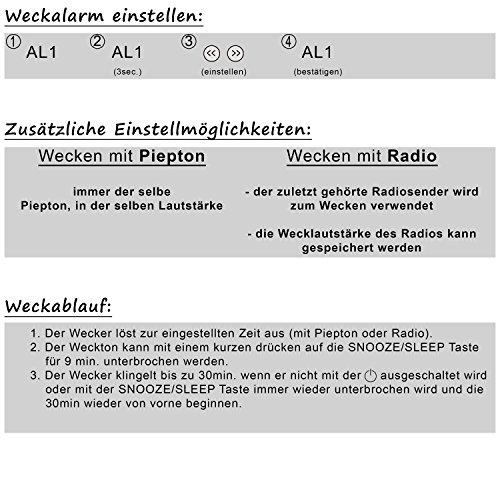 TZS First Austria – Projektionswecker FA-2421-9 - 8