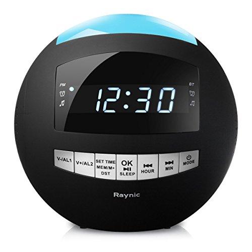Raynic Digital Radiowecker Bluetooth Lautsprecher