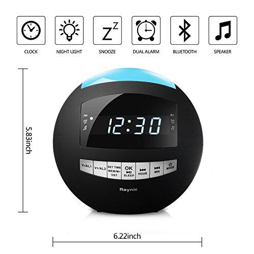 Raynic Digital Radiowecker Bluetooth Lautsprecher - 2