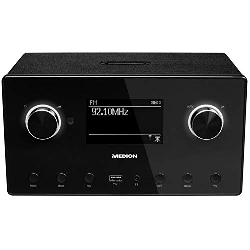 Medion P85080 WLAN, DAB+, UKW, Bluetooth, USB, Spotify, AirPlay, Multiroom, AUX schwarz
