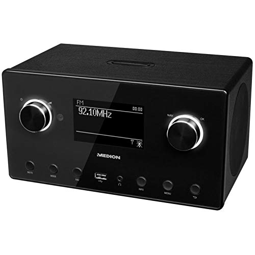 Medion P85080 WLAN, DAB+, UKW, Bluetooth, USB, Spotify, AirPlay, Multiroom, AUX schwarz - 3
