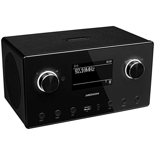 Medion P85080 WLAN, DAB+, UKW, Bluetooth, USB, Spotify, AirPlay, Multiroom, AUX schwarz - 4