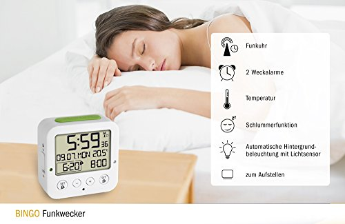 TFA Dostmann 60.2528.02 BINGO Funkwecker, Reisewecker - 4