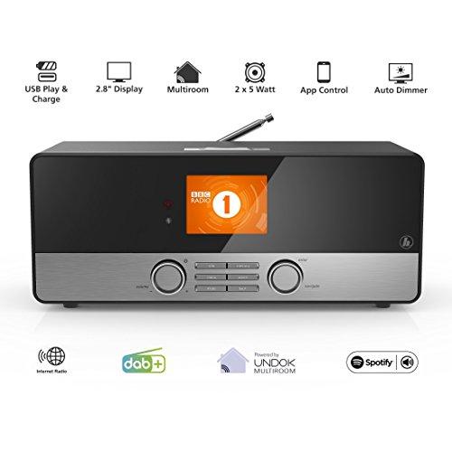 Hama Internetradio DIR3100 (WLAN / LAN / DAB+ / DAB / FM) - 2