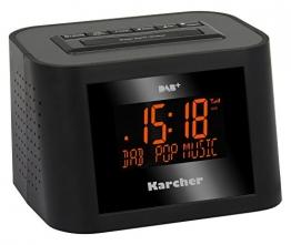 karcher-dab-2420-stereo-radiowecker-dab-fm-pll-mit-rds-und-senderspeicher-dimmbares-display-dual-alarm-wochenend-snooze-funktion-sleep-timer-schwarz-1