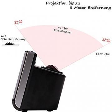 tzs-first-austria-radiowecker-mit-projektor-18-zoll-led-display-extra-grosse-blaue-ziffern-3-stufen-dimmbar-oder-abschaltbar-10-senderspeicher-flexible-tagewahl-wecker-projektionswecker